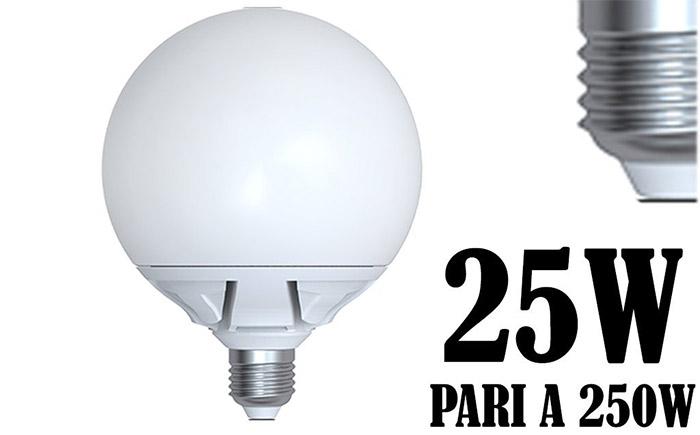 Lampade A Globo A Risparmio Energetico : Lampada led attacco grosso w resa watt e globo e sostenibile