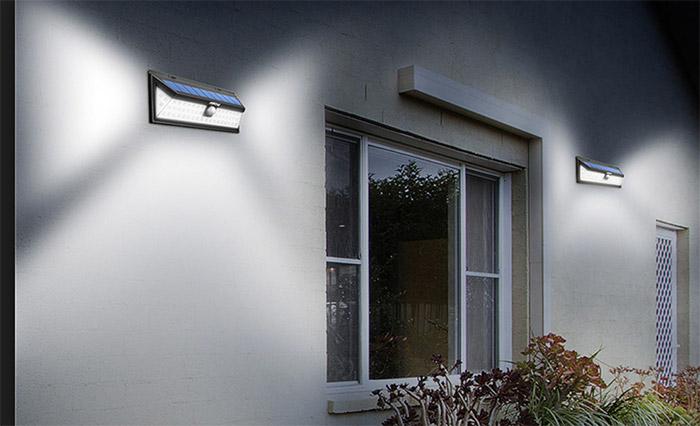Luce solare 54 led lampada wireless ad energia solare da esterno
