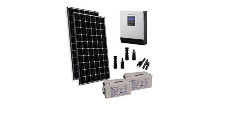 Kit Solare da Baita da 750W. Impianto Fotovoltaico Stand Alone