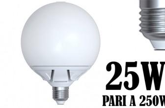 Lampada LED Attacco Grosso 25W Resa 250 Watt E27 Globo