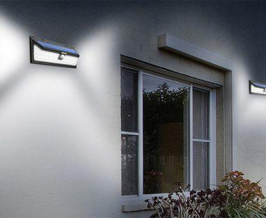 Luce Solare 54 LED – Lampada wireless ad energia solare da esterno